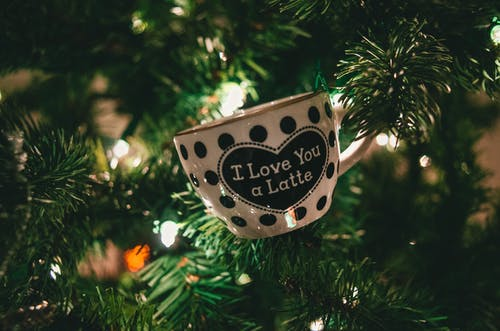 Close-Up Photo of Cup On Christmas Tree