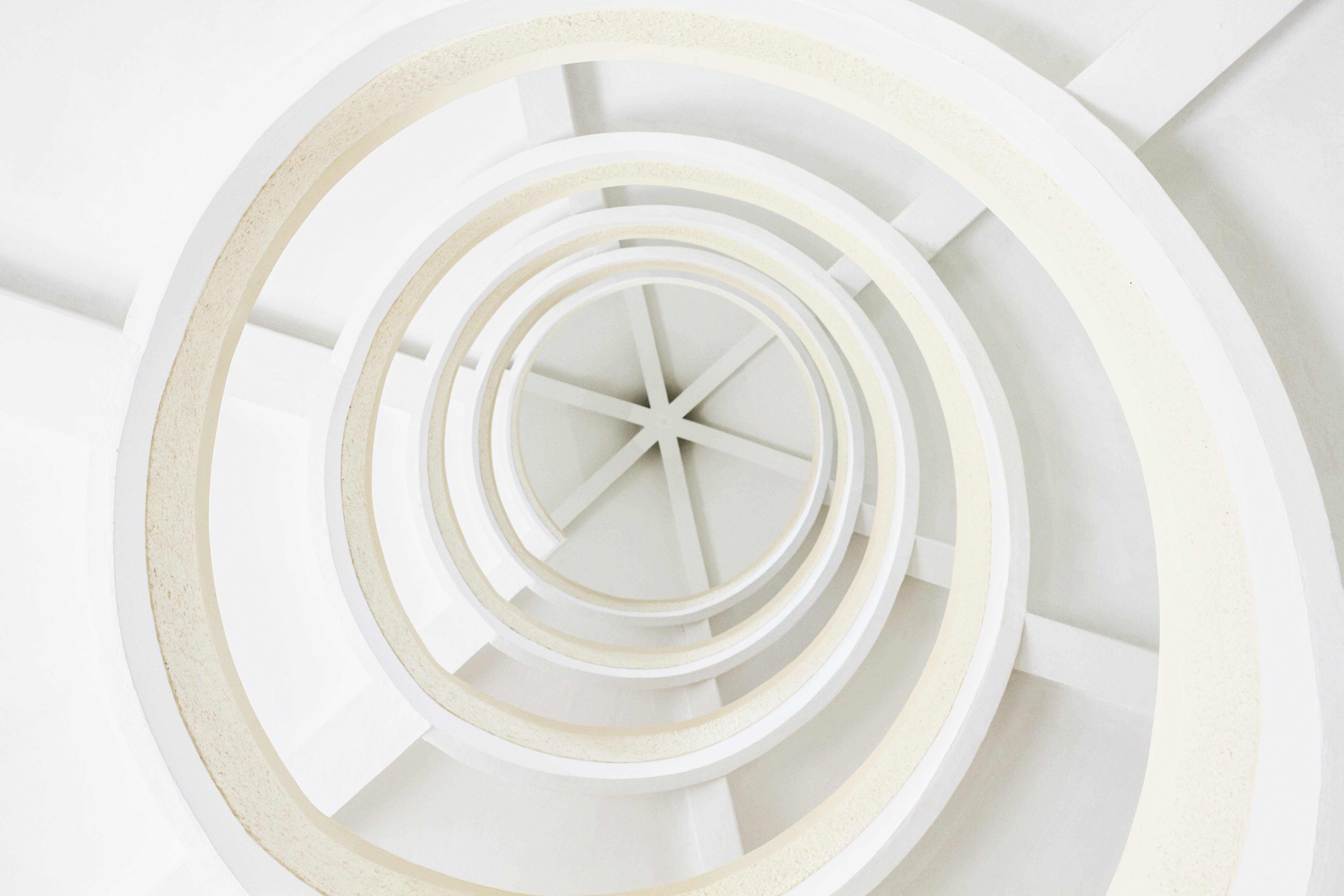 Round White Digital Wallpaper
