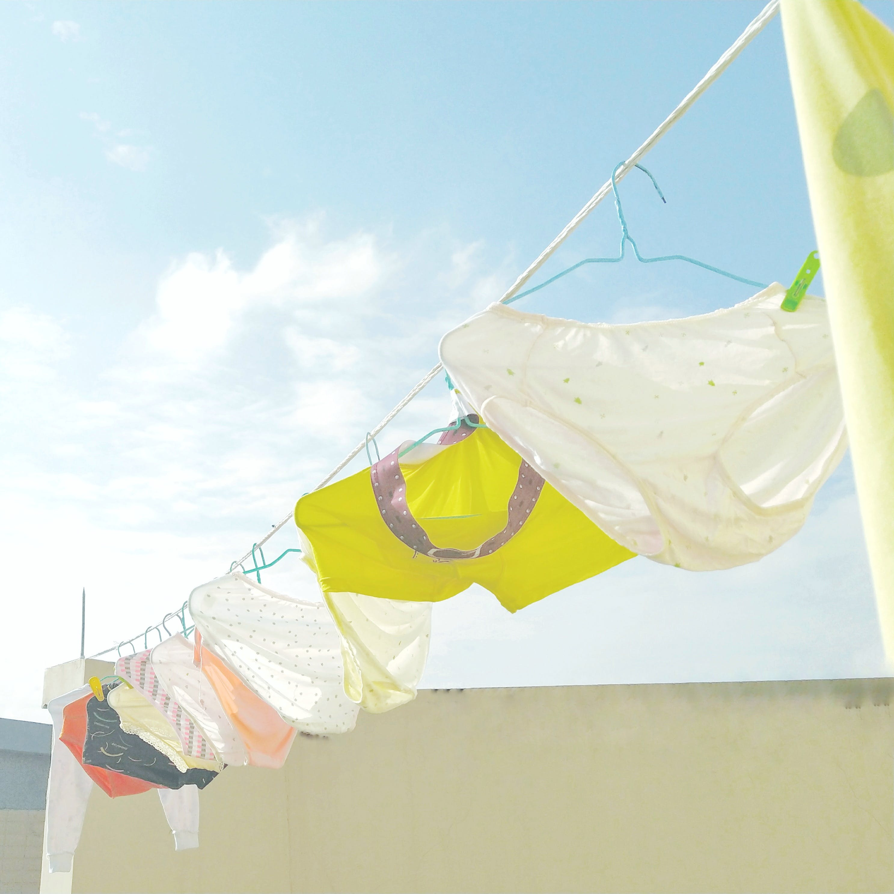 Photo of Underwear Hanging On Clothes Line