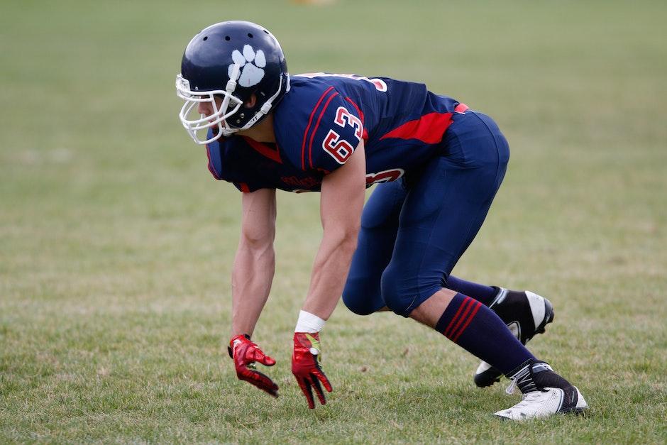 athlet, feld, football