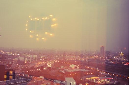 Free stock photo of light, city, evening, window