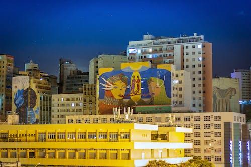 긴, 도시, 밤, 밤의 도시의 무료 스톡 사진