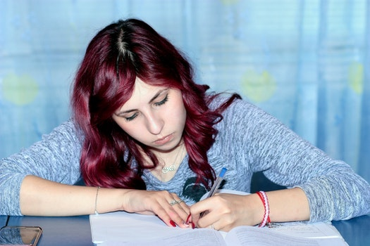 Free stock photo of person, girl, writing, student