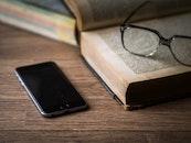 iphone, smartphone, desk