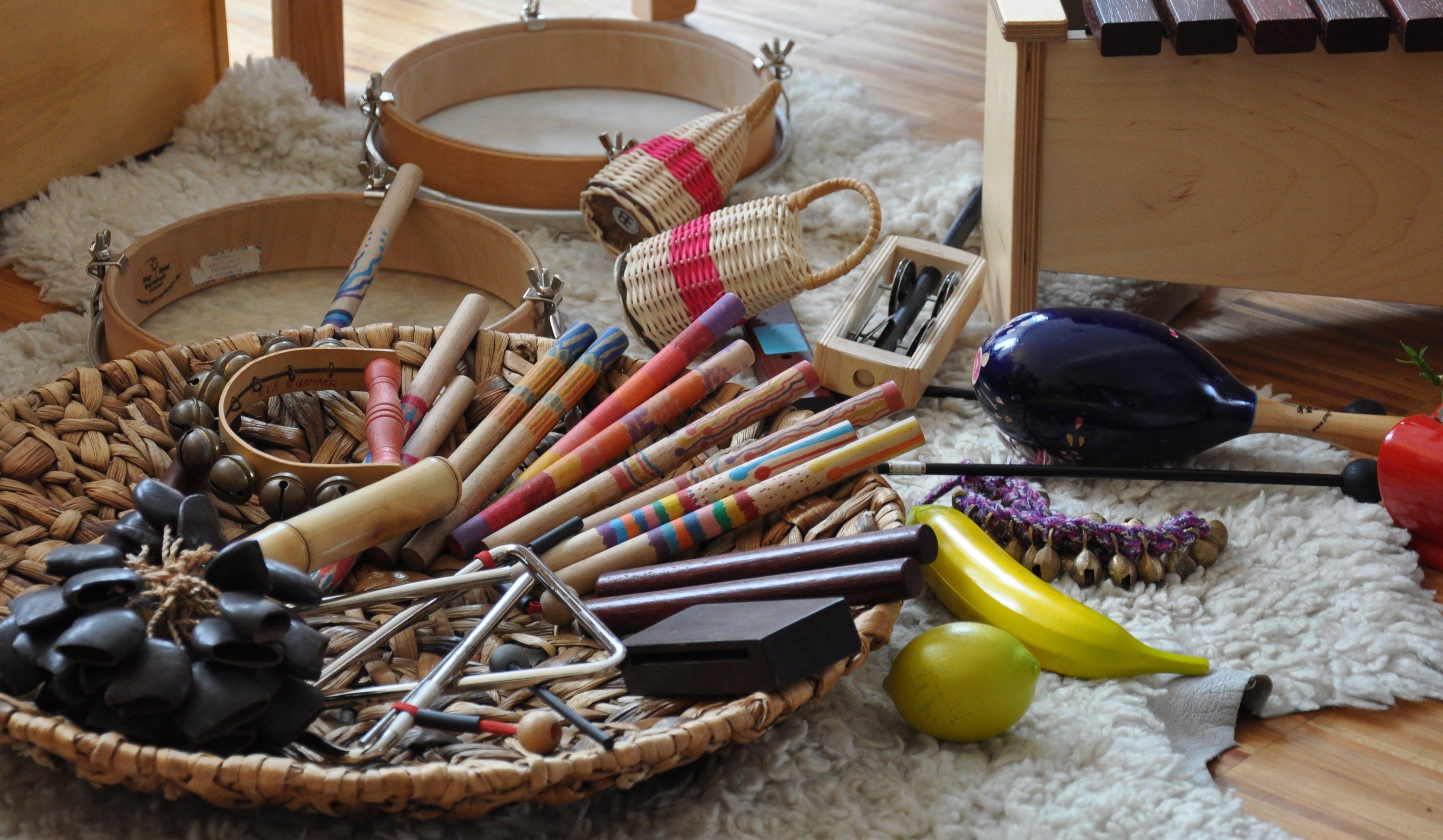 Yellow Banana Near Basket