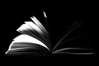 black-and-white, book, paper