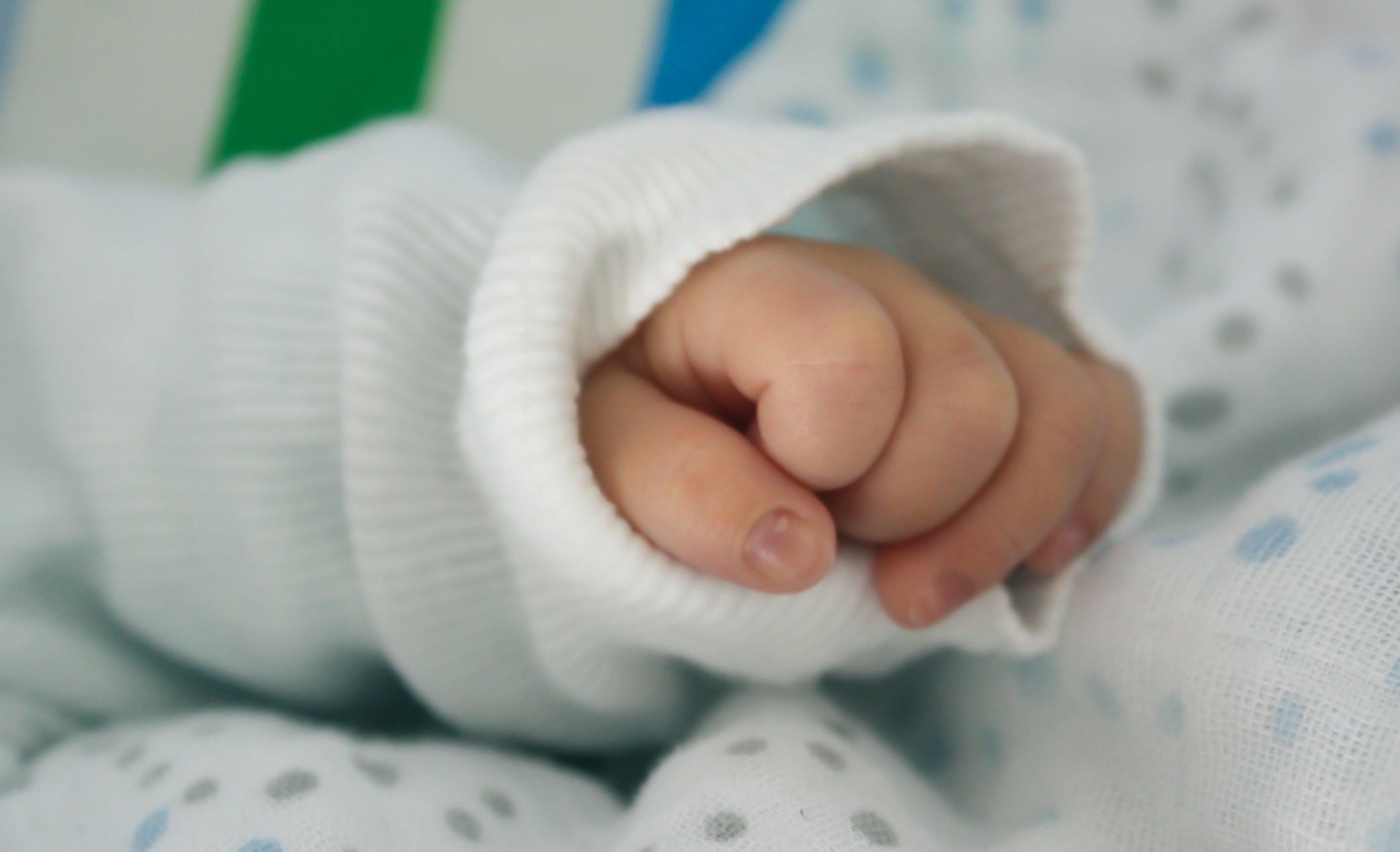baby, finger, hand