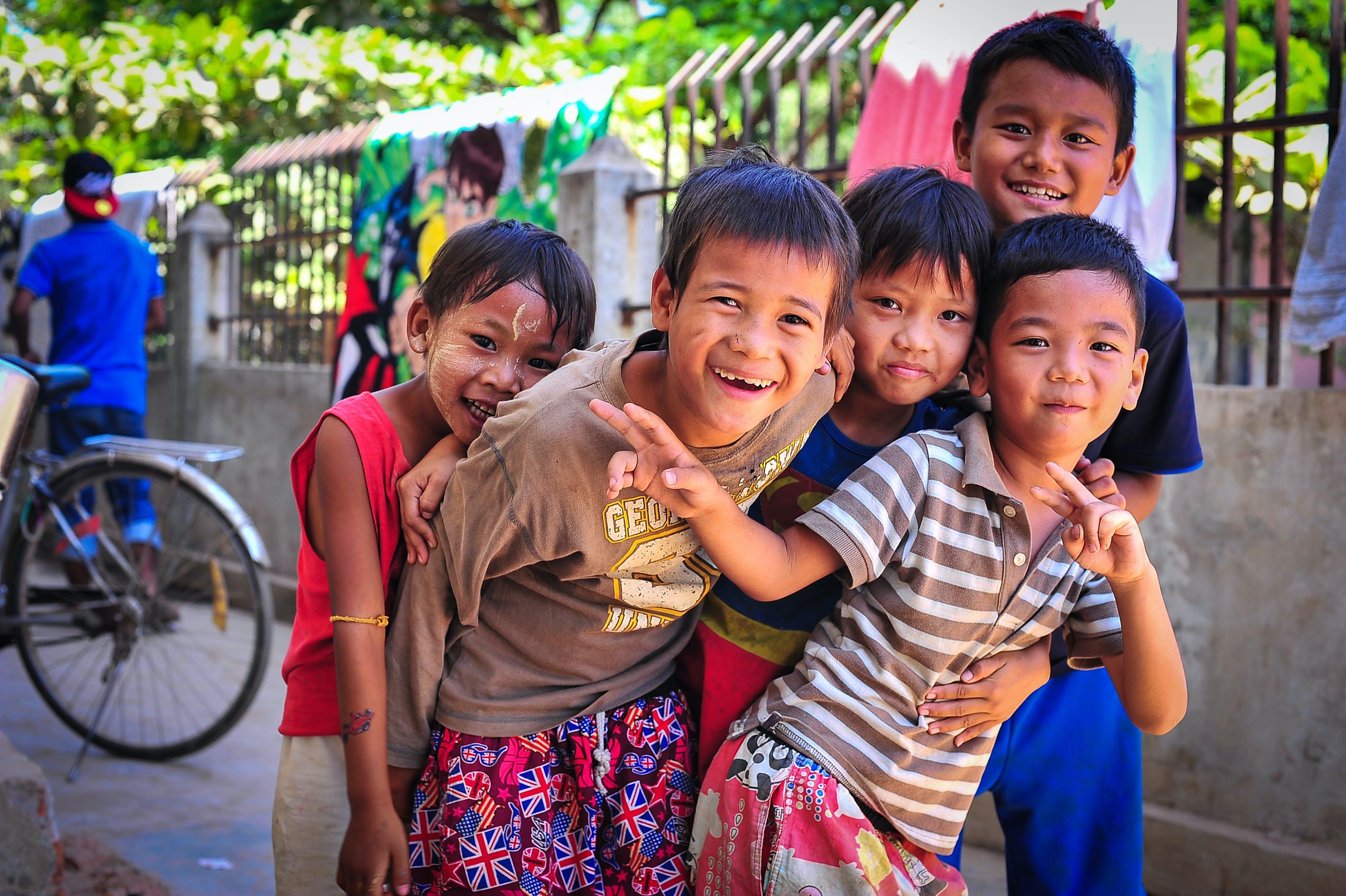Free stock photo of 3rd world, asia, children, joy