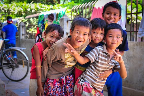 Free stock photo of 3rd world, asia, children, joy