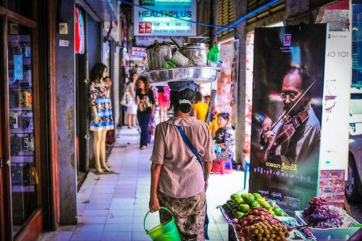 Free stock photo of marketplace, asia, poverty, myanmar