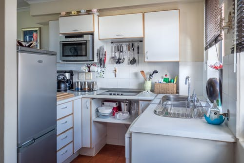 White Wooden Kitchen Cabinet