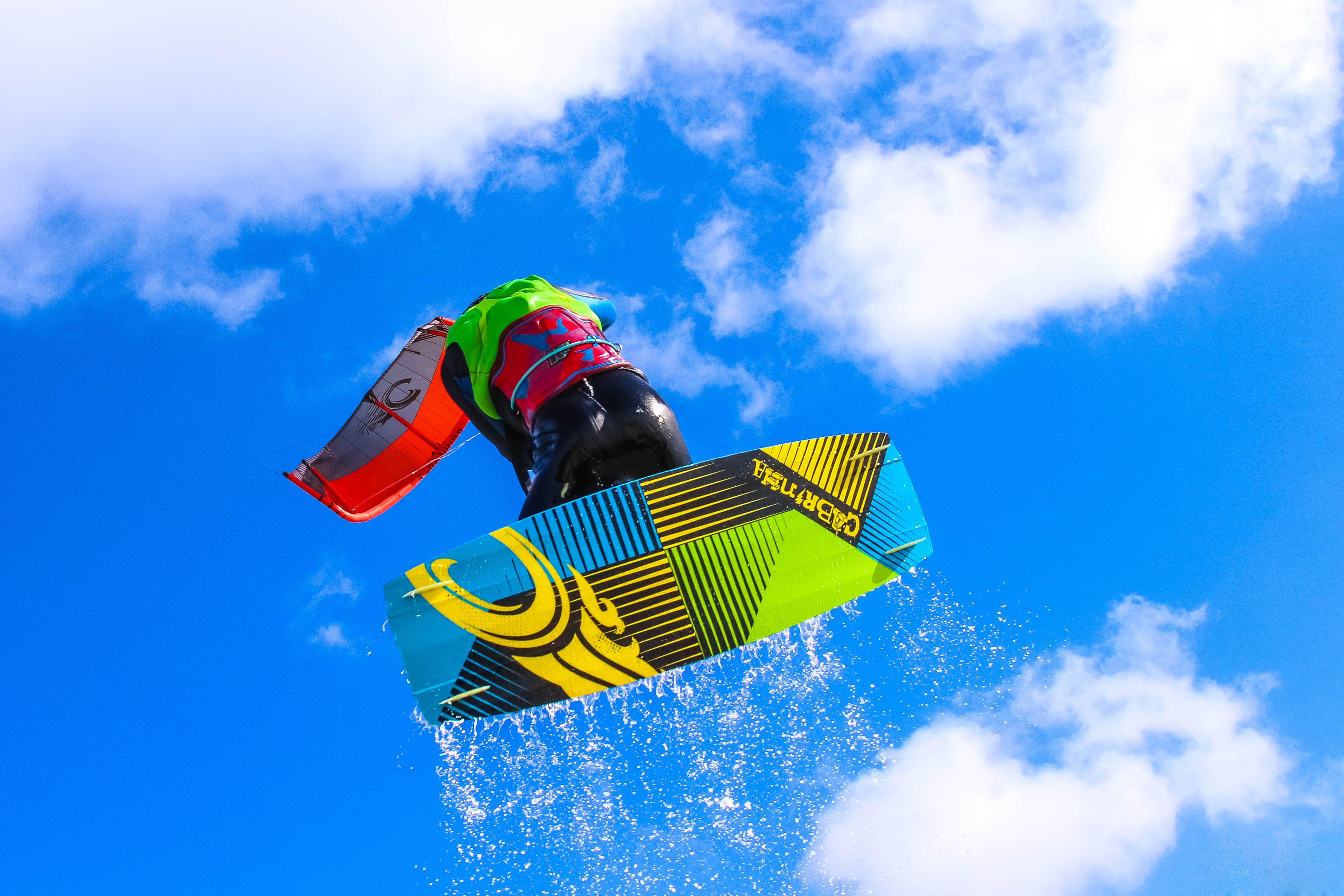 Person Doing Kite Boarding