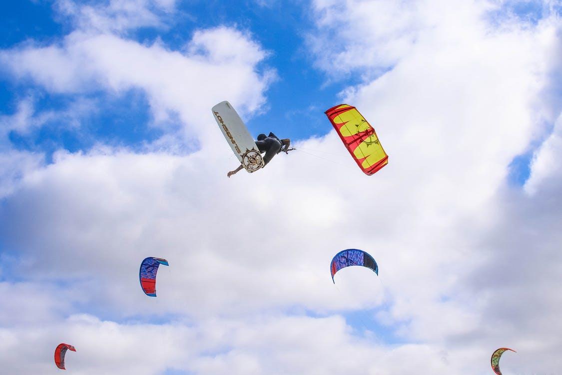 Multicolored Paragliding