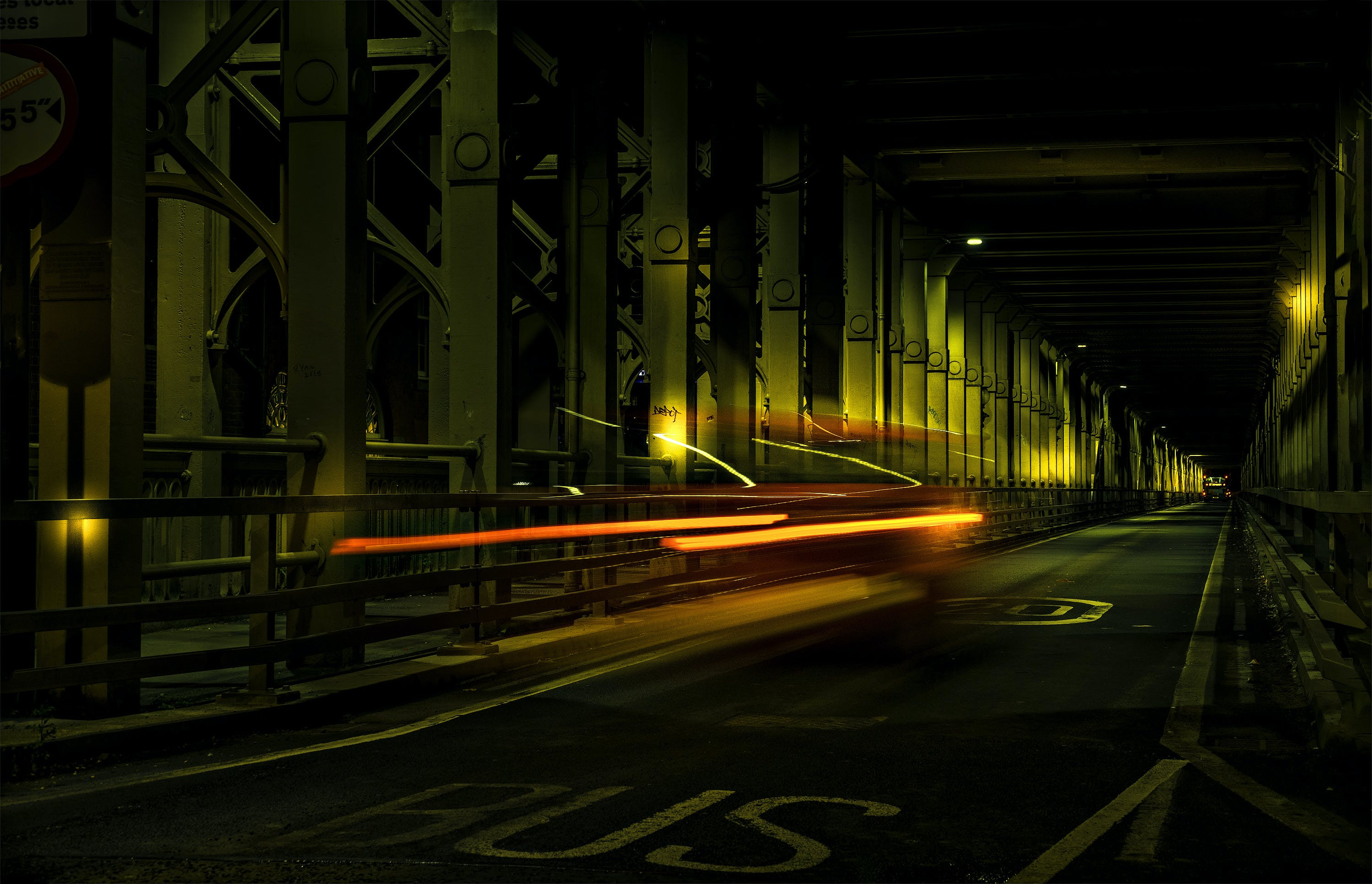 Long Exposure Photo of Car on Road