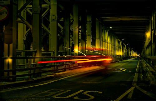 Gratis lagerfoto af belyst, bil, fart, lang eksponering