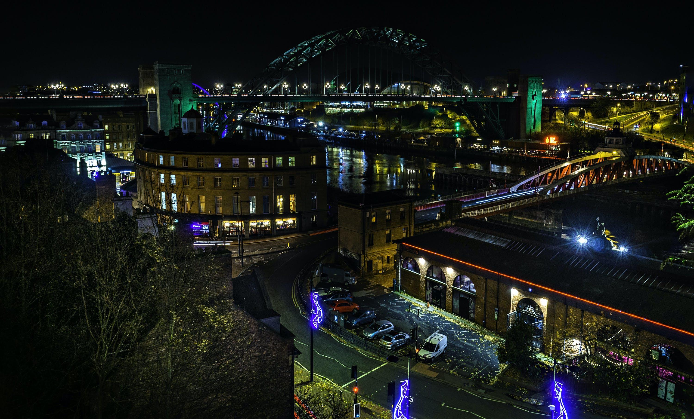 Kostenloses Stock Foto zu stadt, autos, beleuchtung, nacht