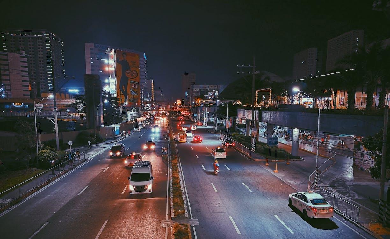 açık, akşam, arabalar