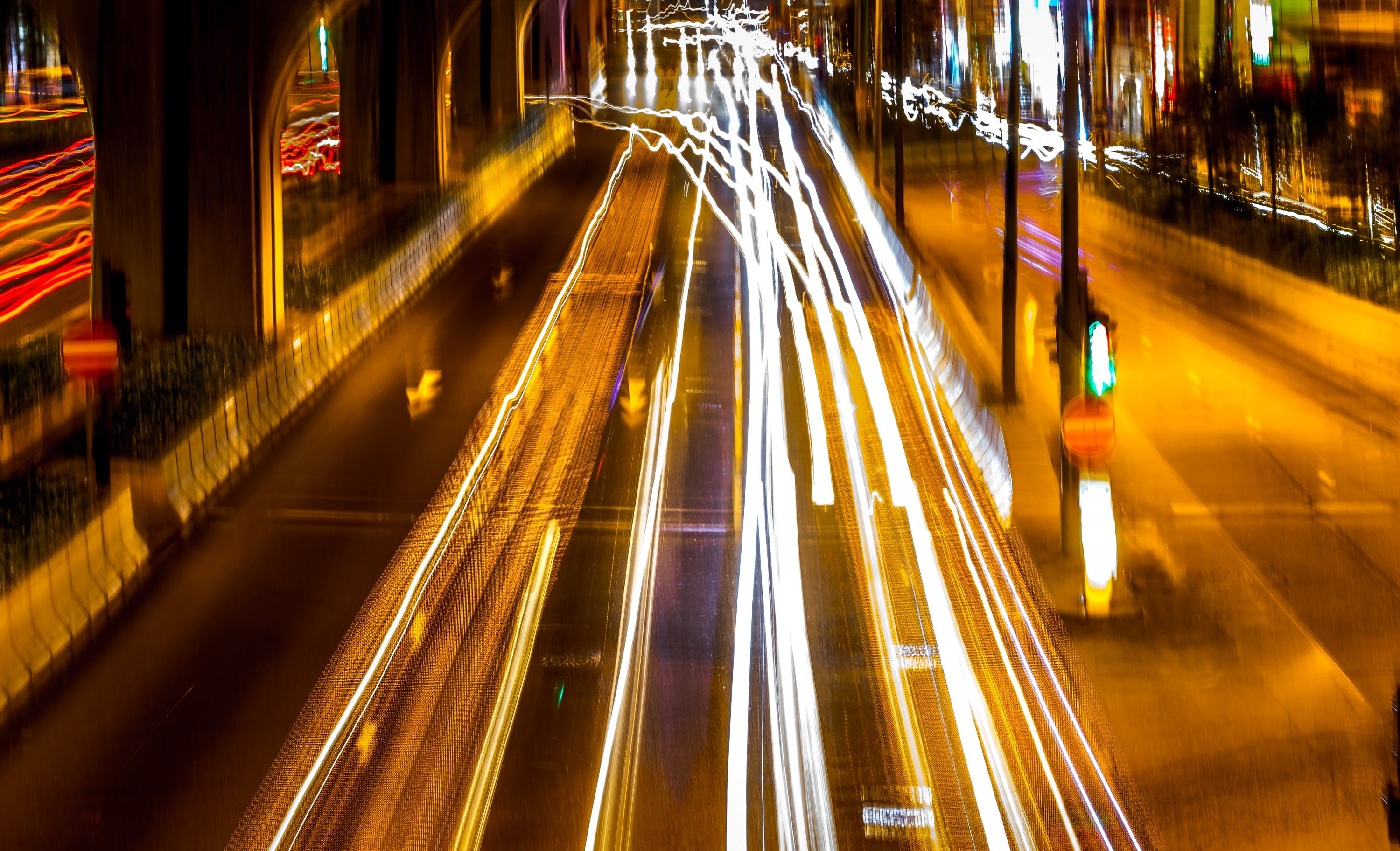 Free stock photo of car lights, hong kong, light trails, long exposure