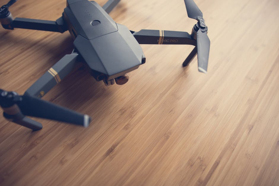 Quadcopter On Wooden Surface