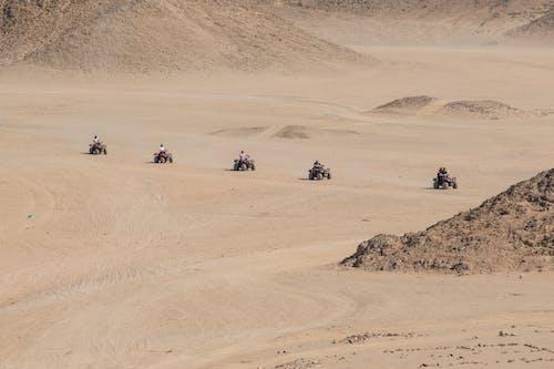 모래, 사막, 사파리, 쿼드 바이크의 무료 스톡 사진
