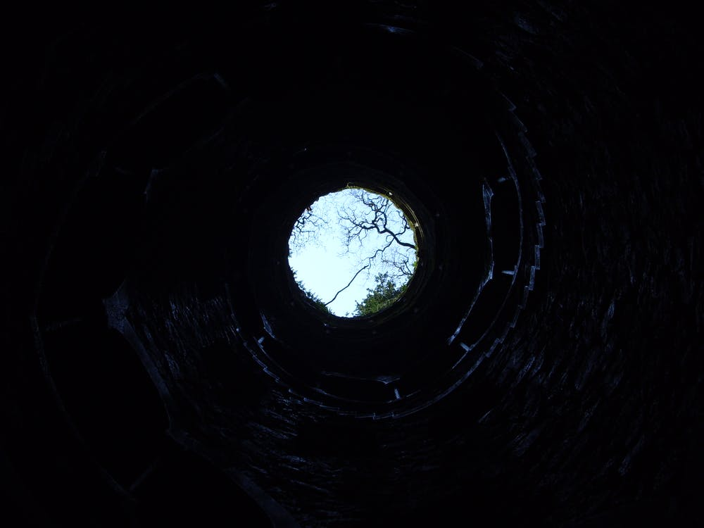 Worms Eyeview of Well