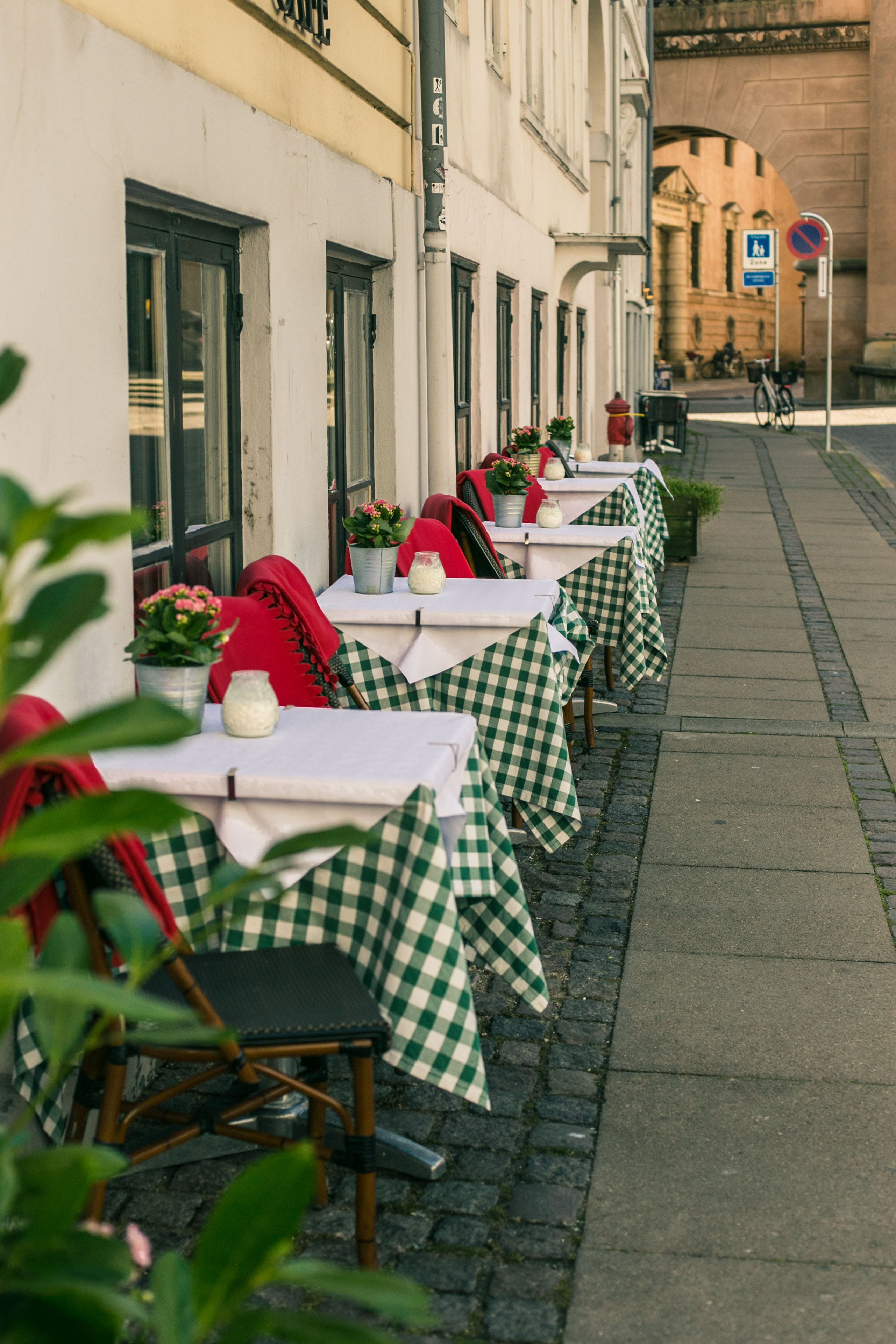 Dining Tables Outside The Restaurant