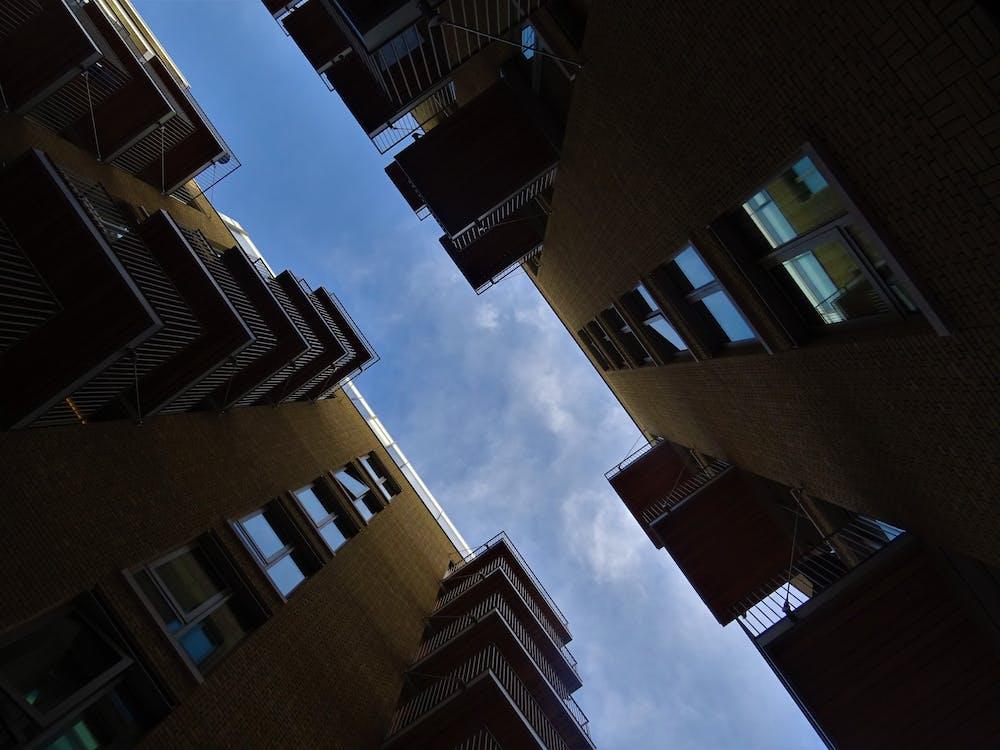 appartementsgebouwen, architectuur, flatgebouwen