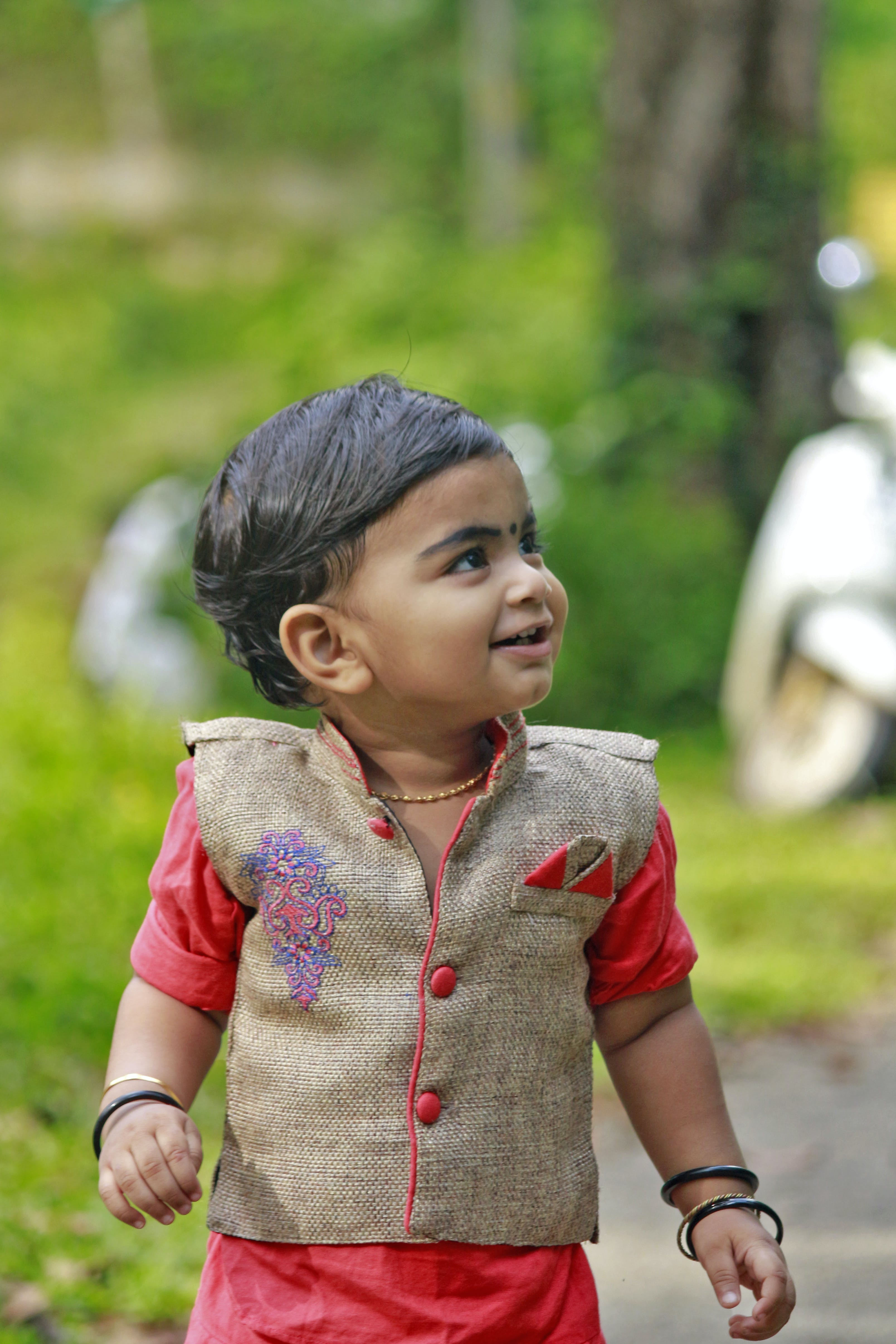 Child Wearing Traditional Suit