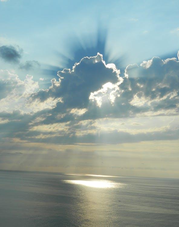 aigua, capvespre, cel