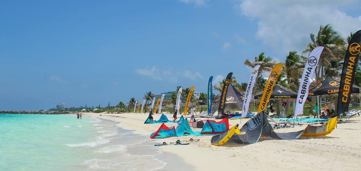 海洋, 海灘, 風箏衝浪