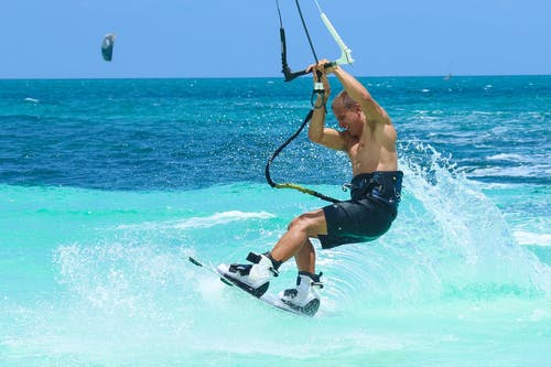 Man Doing Wave Boarding