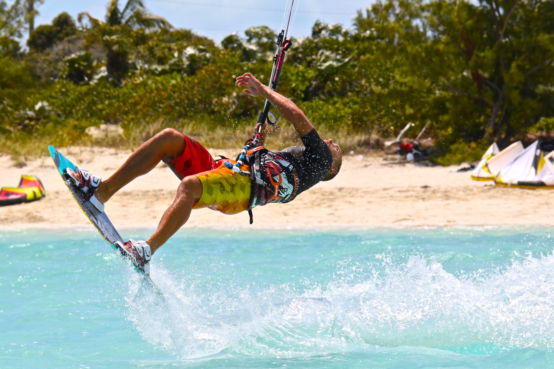 คลังภาพถ่ายฟรี ของ kiteboarding, กลางวัน, การกระทำ, การพักผ่อนหย่อนใจ