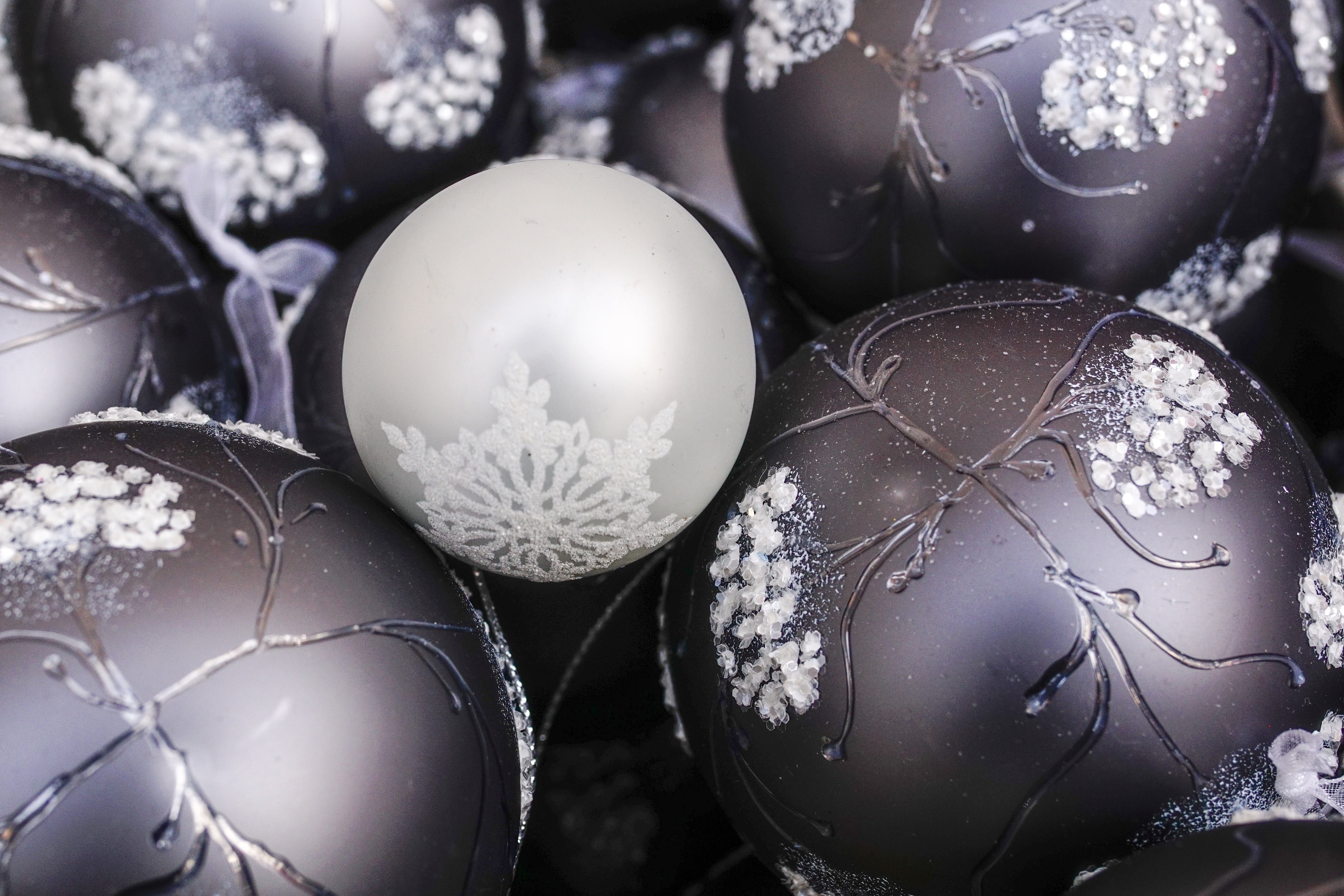 White and Black Bauble