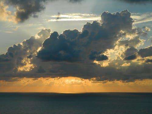 คลังภาพถ่ายฟรี ของ ตะวันลับฟ้า, ท้องฟ้า, ทะเล, ธรรมชาติ