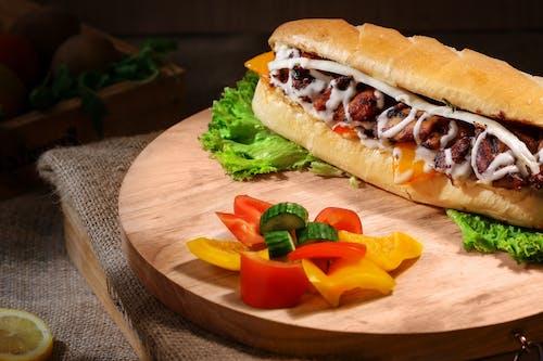 Základová fotografie zdarma na téma chleba, chutný, hovězí, jídlo