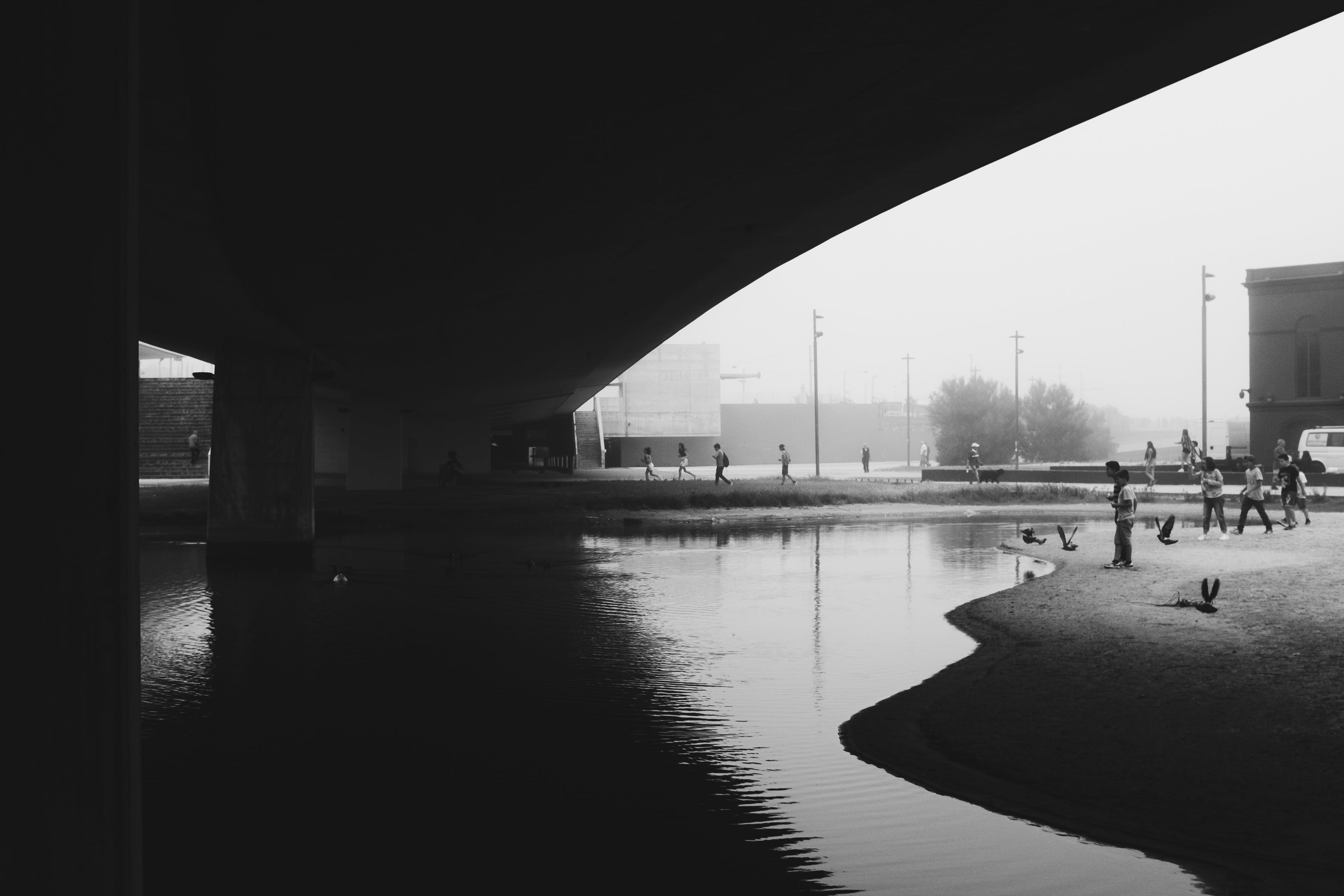 Gratis lagerfoto af arkitektur, bro, bygninger, folk