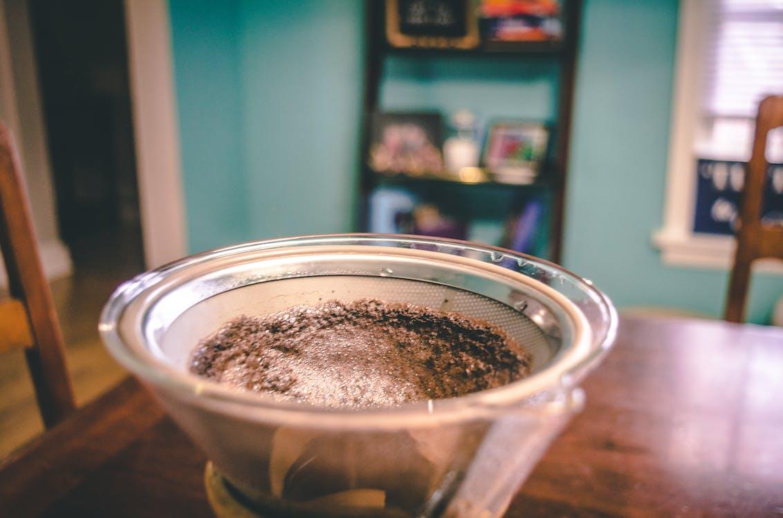 chemex, čierna káva, interiér