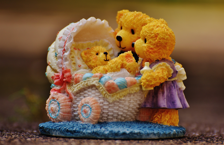 Teddy Bears Watching over Baby Teddy Bear Figurine