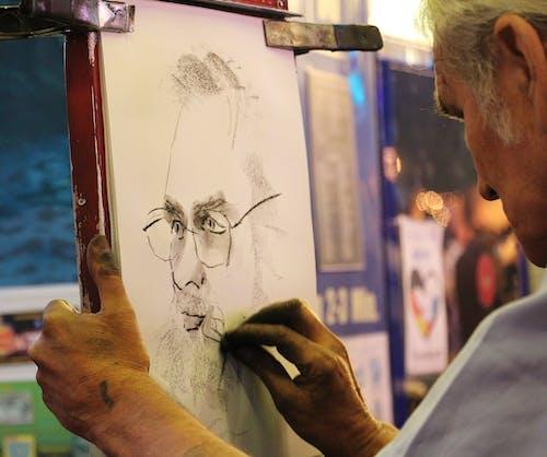 アーティスト, アート, インドア, おとこの無料の写真素材
