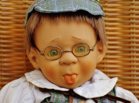 Doll Wearing Eyeglasses