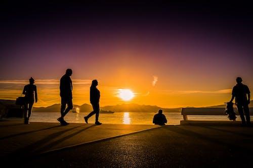 Základová fotografie zdarma na téma chůze, čluny, horizont, hory