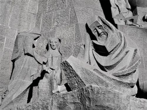 Základová fotografie zdarma na téma černobílá, denní světlo, kameny, památník