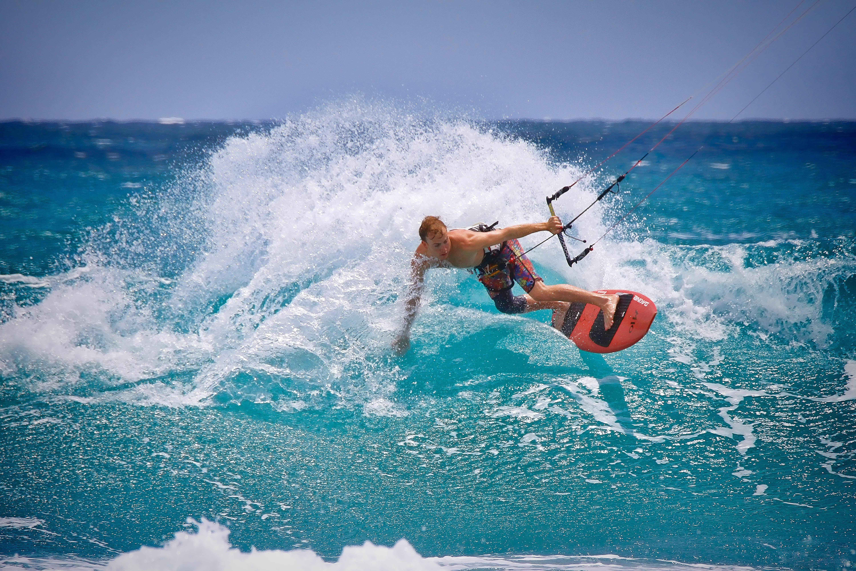 Man Kite Surfing