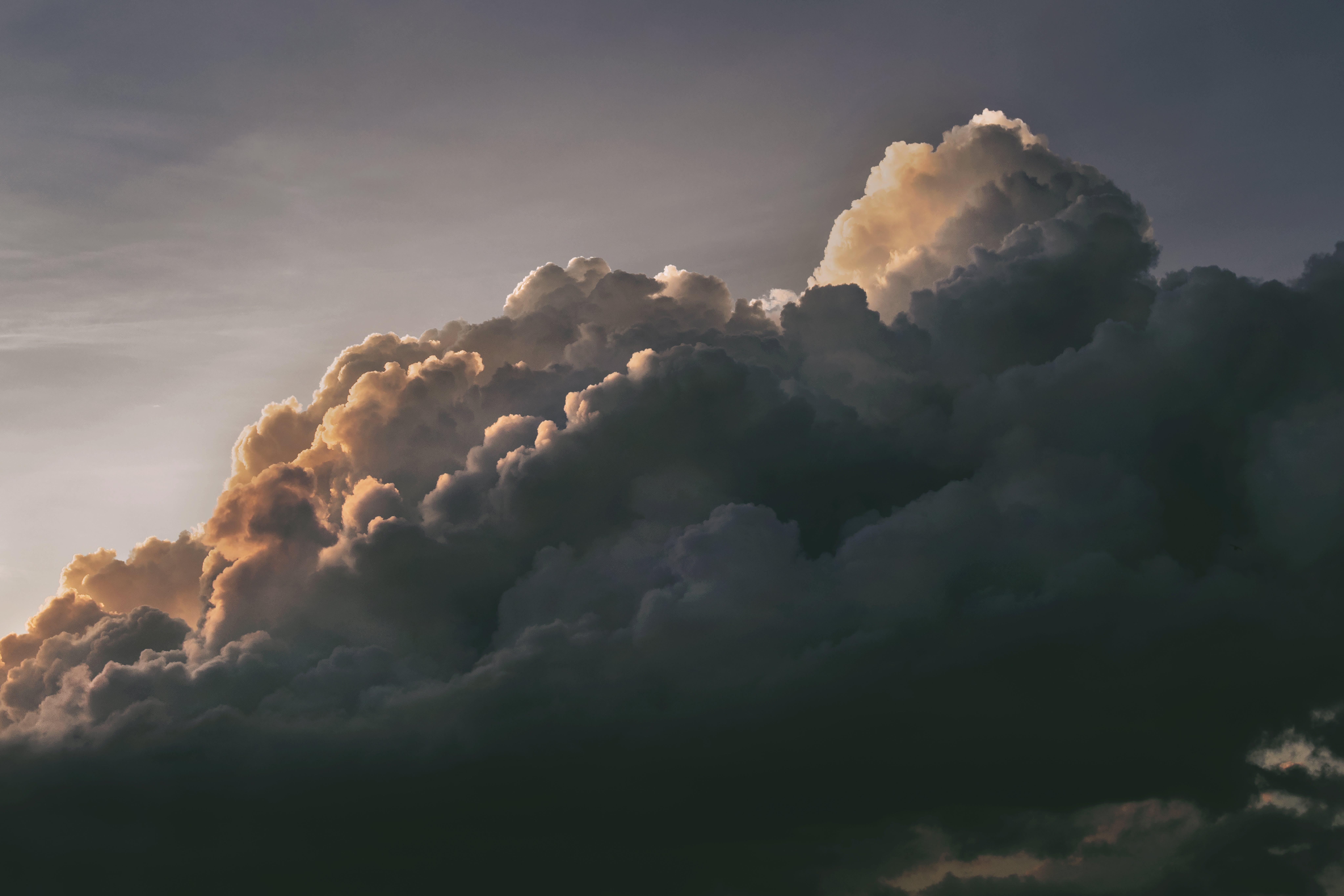 na téma dramatický, mraky, nadýchaný, nebe