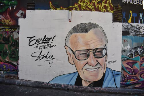 Fotos de stock gratuitas de graffiti, memorial, stan lee
