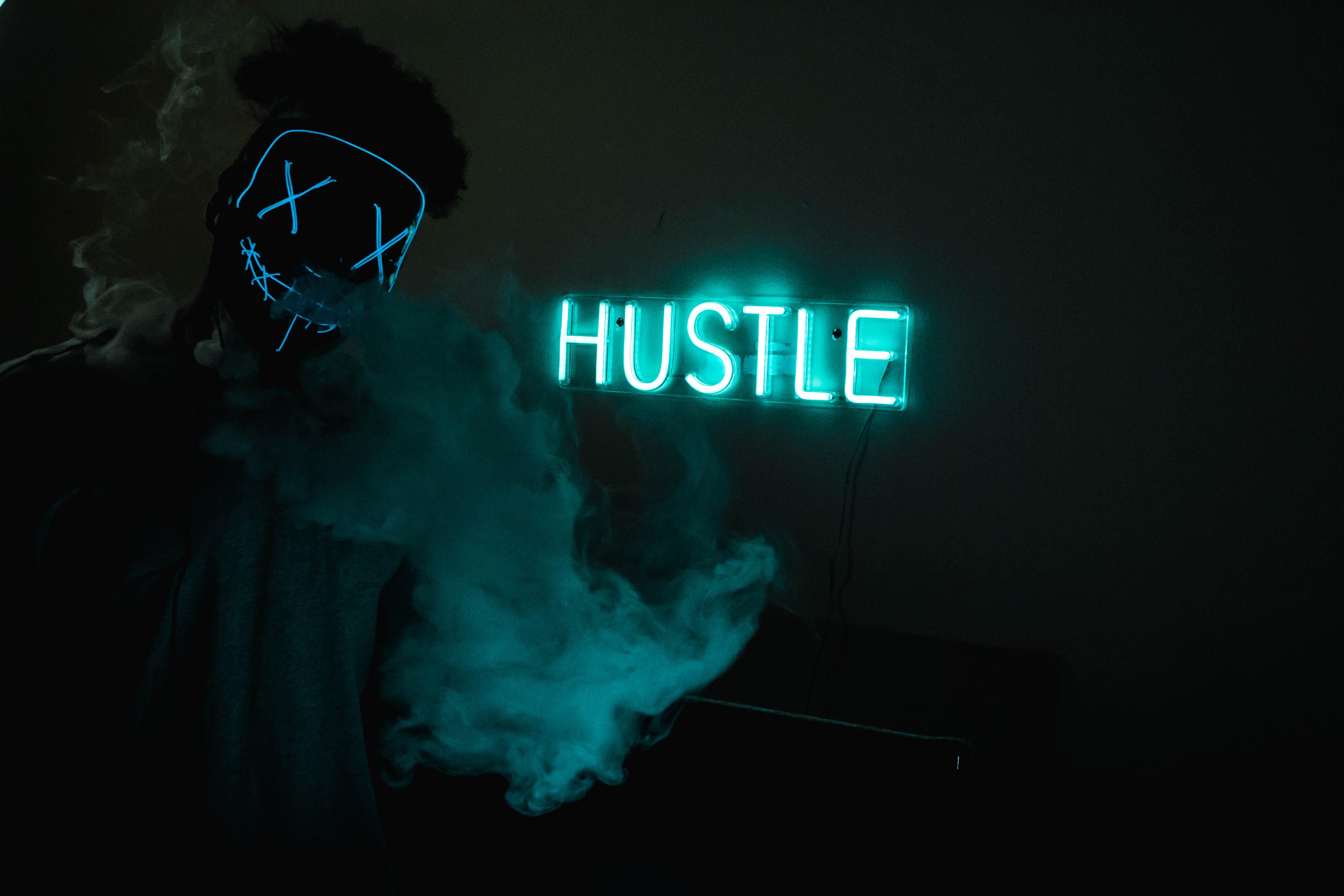 Hustle Led Signage