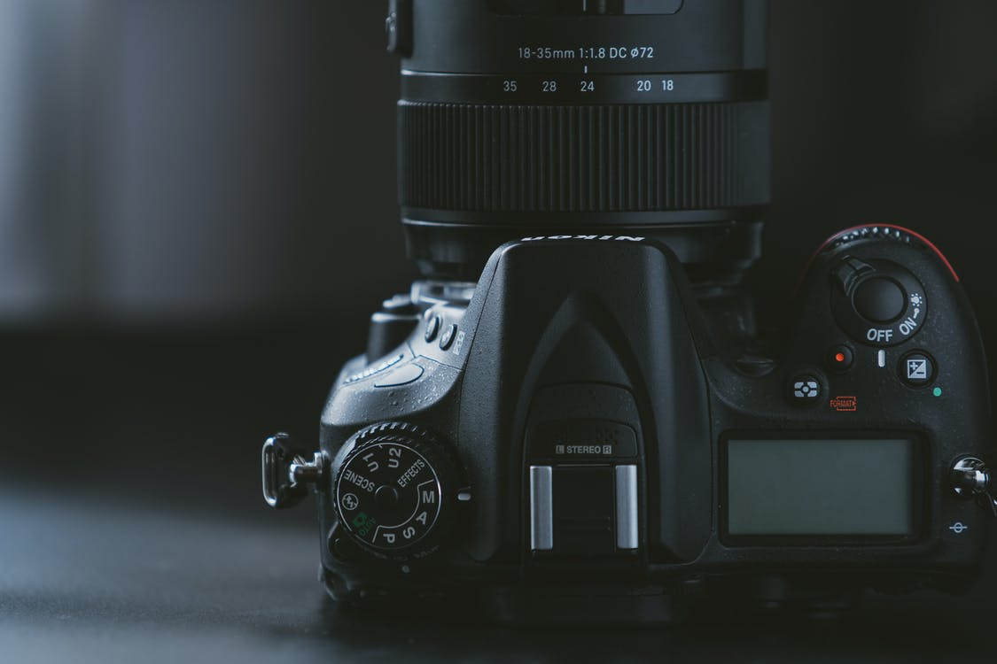 detailný záber, digitálny fotoaparát, DSLR