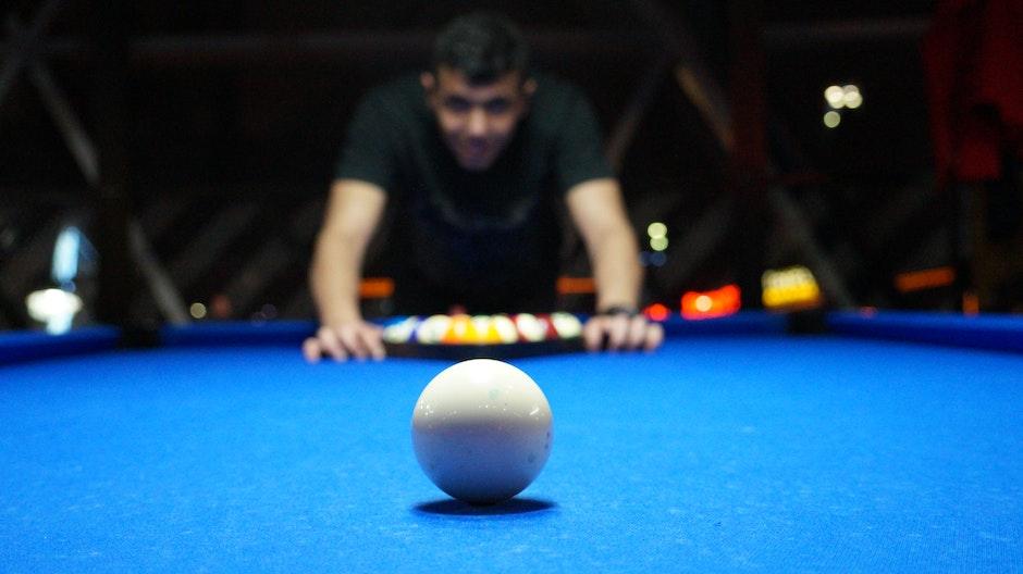 billiards, game, person