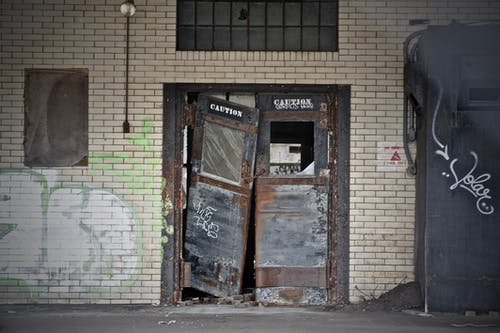 Free stock photo of broken doors