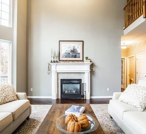 內部, 公寓, 壁爐, 室內 的 免费素材照片